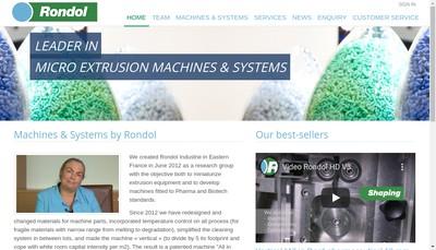 Site internet de Rondol Industrie