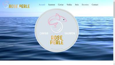 Site internet de ROSE & PERLE