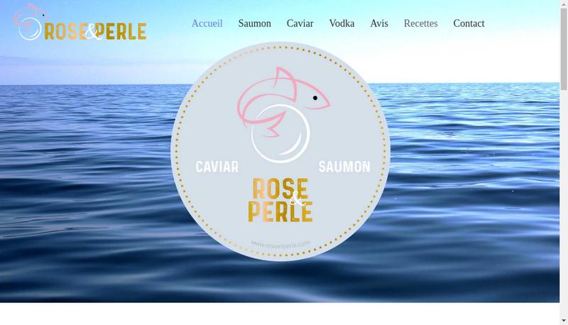 Capture d'écran du site de ROSE & PERLE