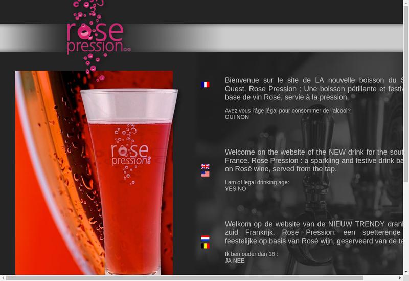 Capture d'écran du site de SARL Rose Pression