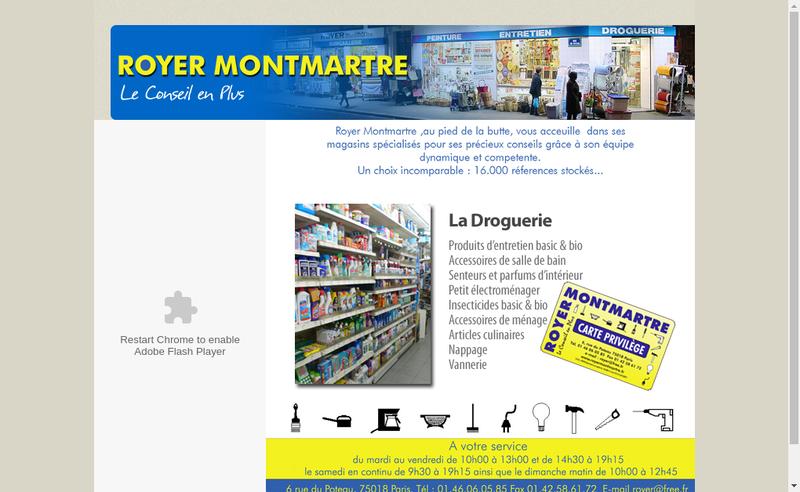 Capture d'écran du site de Royer Montmartre