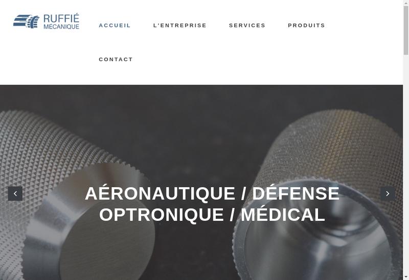 Capture d'écran du site de Ruffie Mecanique