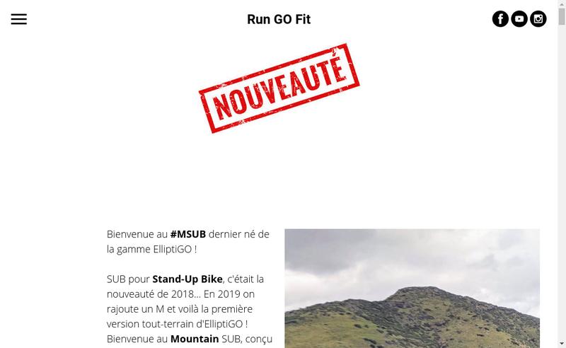 Capture d'écran du site de Run Go Fit