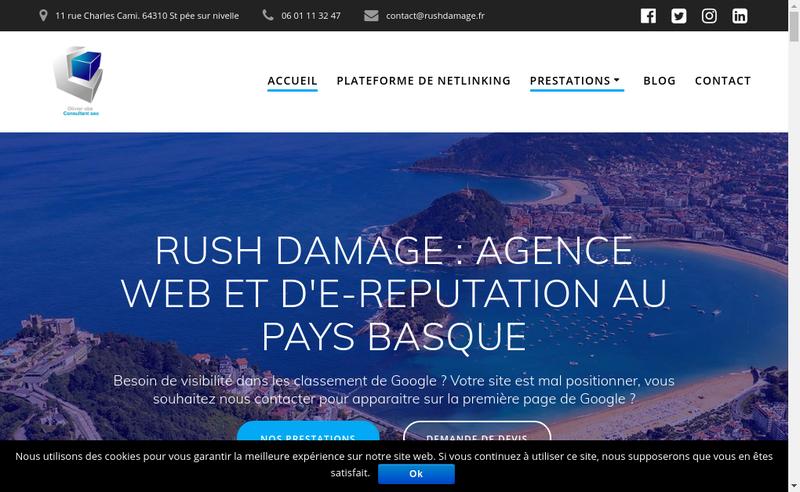 Capture d'écran du site de Olivier Obe