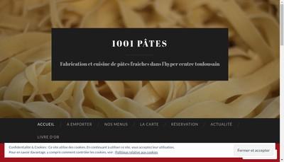 Site internet de Mille et une Pates