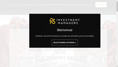Site internet de 123 Investment Managers