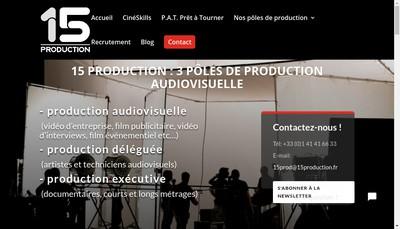 Site internet de 15 Production