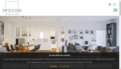Site internet de 19Cent86 Immobilier & Placements