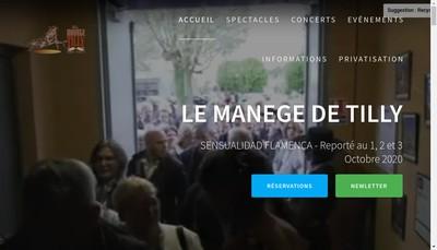 Site internet de Le Manege de Tilly