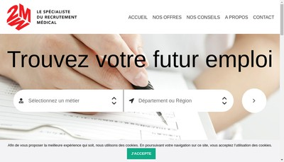 Site internet de 2 M Recrutement
