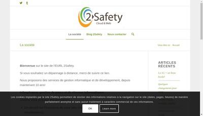 Site internet de EURL 2 Safety