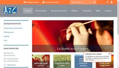 Site internet de SARL A2C