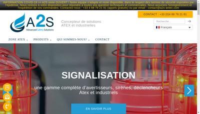 Site internet de A2S Advanced Safety Solutions