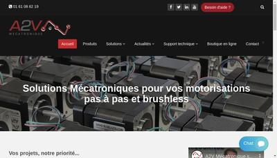 Site internet de A2V Mecatronique
