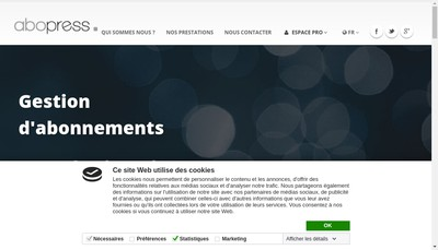 Site internet de Abo Press