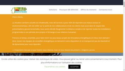 Site internet de Ab Services