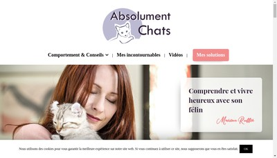 Site internet de Absolument Chats