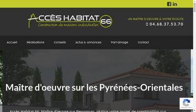 Site internet de Acces Habitat 66