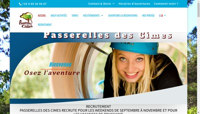 Site internet de Passerelles des Cimes