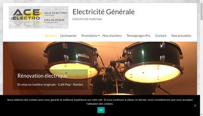 Site internet de Ace Electro Nantes
