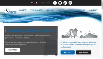 Site internet de Atelier Construction Frigorifique