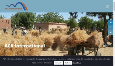 Site internet de Ack International