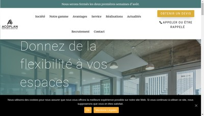 Site internet de Acoplan France