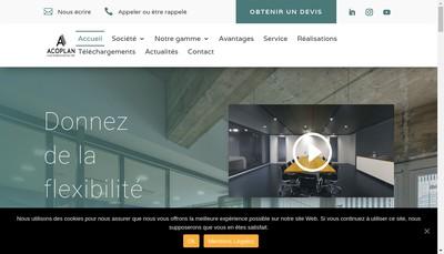 Site internet de Acoplan France