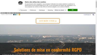 Site internet de Actecil Sud-Est