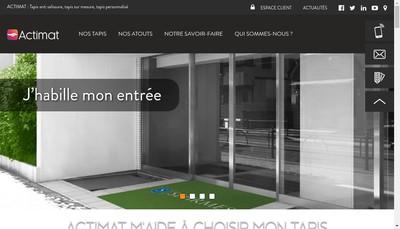 Site internet de EURL Actimat