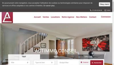 Site internet de Actimmo Conseil