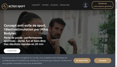 Site internet de Action Sport Strasbourg