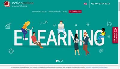 Site internet de Action On Line
