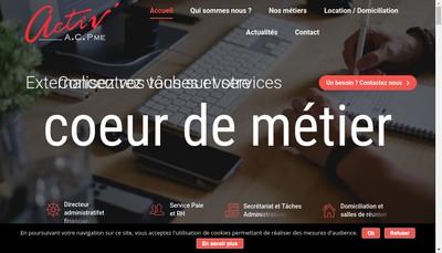 Site internet de Activ'Acpme