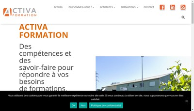 Site internet de Activa Formation