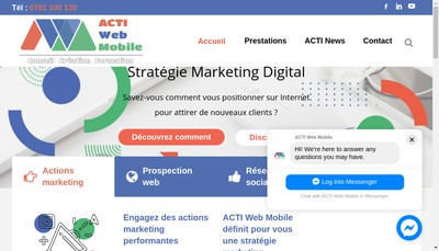 Site internet de Actiweb Mobile