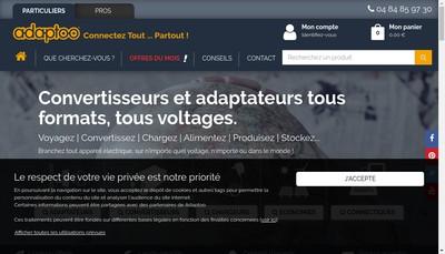 Site internet de Adaptoo Adaptateurs Electriques Fr,Transformateur Universel Fr,Adaptateur-Universel-Voyage Fr,Univer