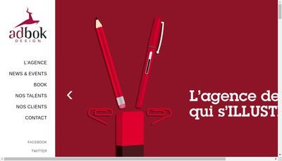 Site internet de Adbok Design