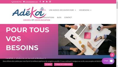 Site internet de Adekoi