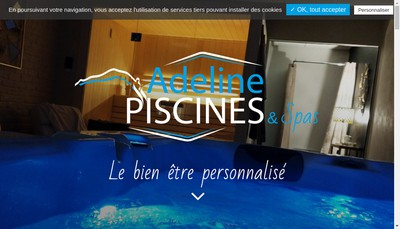 Site internet de Aquilus Piscines