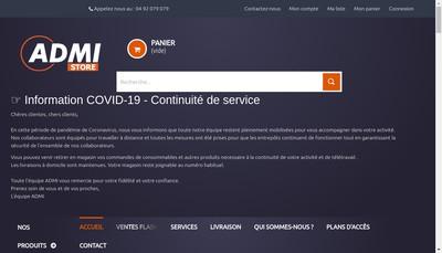 Site internet de Admi Computer France