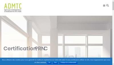 Site internet de Admtc - Agence pour le Developpement et la Mutualisation des Titres Certifies