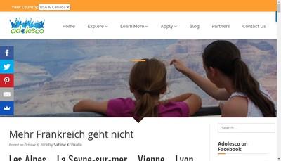 Site internet de Adolesco