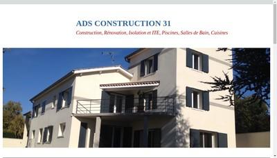 Site internet de Ads Construction 31