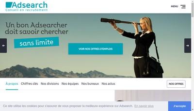 Site internet de Adsearch