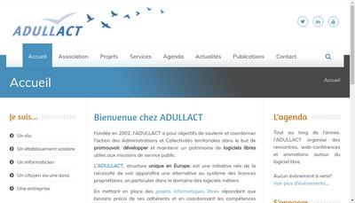 Site internet de Adullact