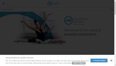 Site internet de Advanced Bionics