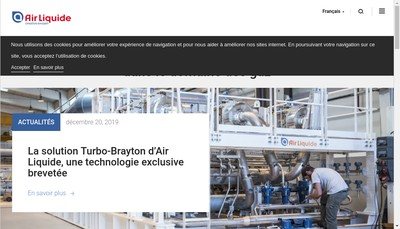Site internet de Air Liquide Advanced Technologies