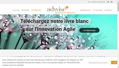 Site internet de Adwise