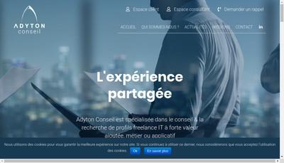 Site internet de Adyton Consulting